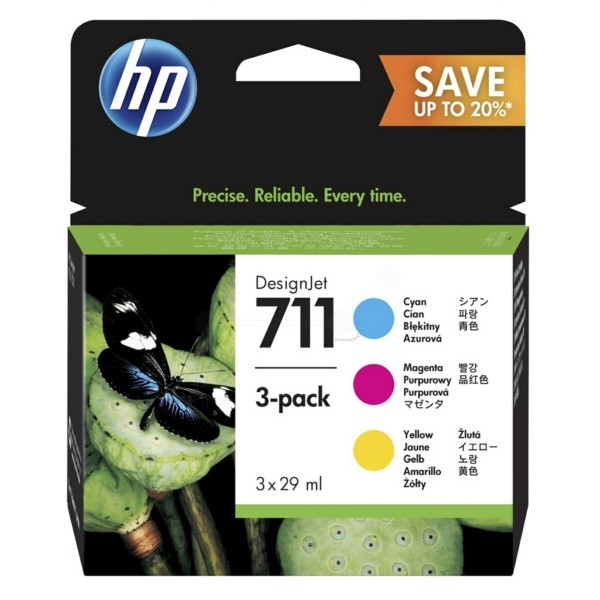 HP 711 cyan magenta yellow 29 ml
