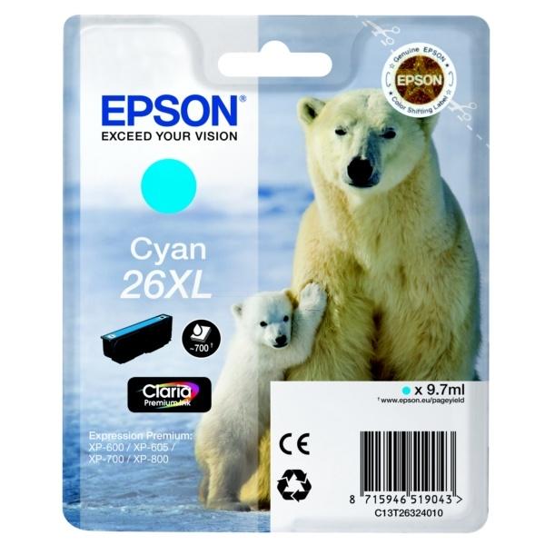Epson 26XL cyan 9,7 ml