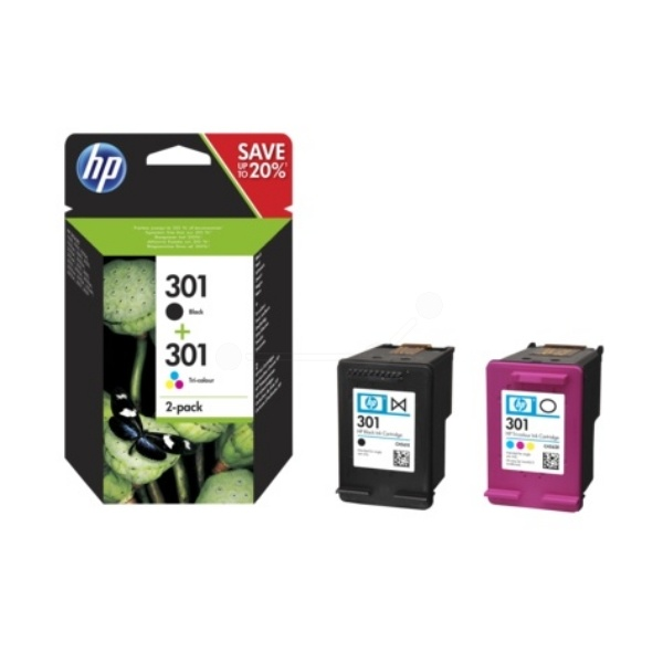 HP 301 black color
