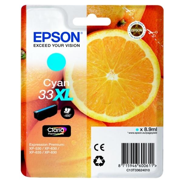 Epson 33XL cyan 8,9 ml