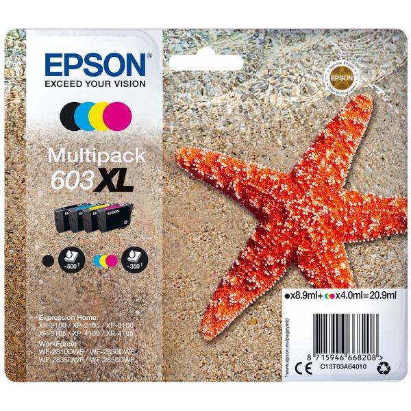Epson 603XL/603 black cyan magenta yellow