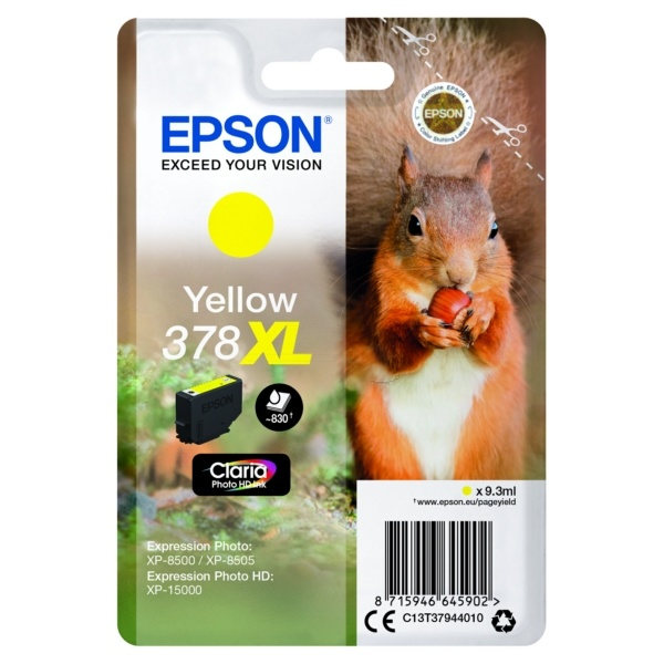 Epson 378XL yellow 9,3 ml