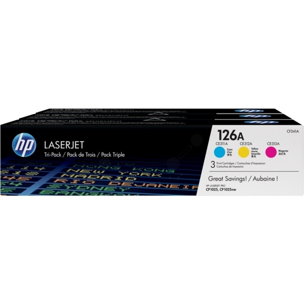HP 126A cyan magenta yellow