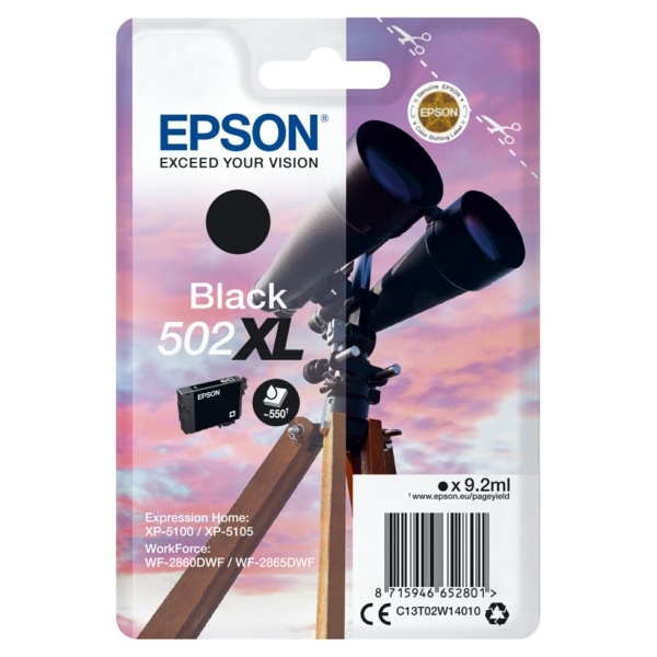 Epson 502XL black 9,2 ml