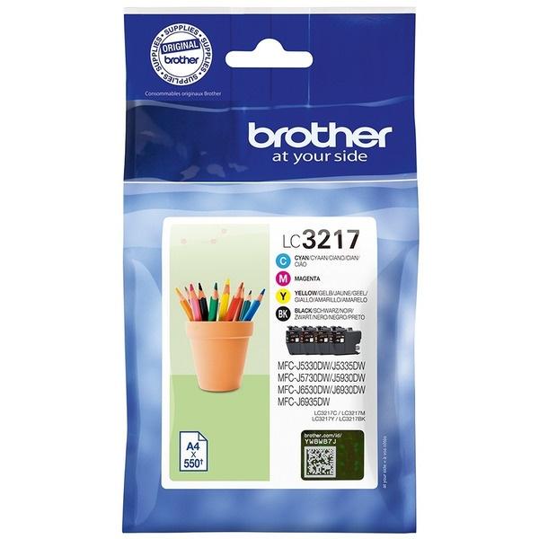 Brother LC3217VALDR black cyan magenta yellow 9 ml