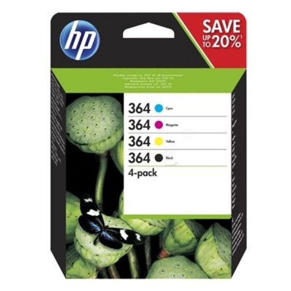 HP 364 black cyan magenta yellow