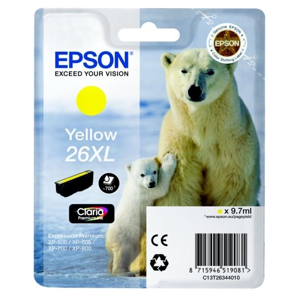 Epson 26XL yellow 9,7 ml