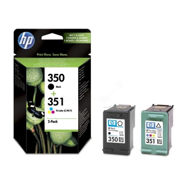 HP 350+351 black color