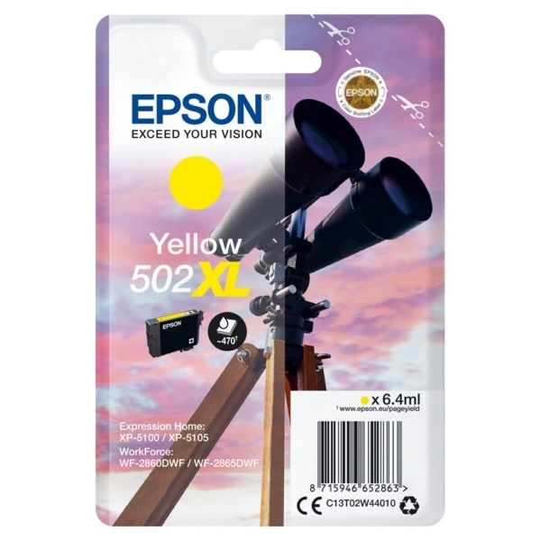 Epson 502XL yellow 6,4 ml