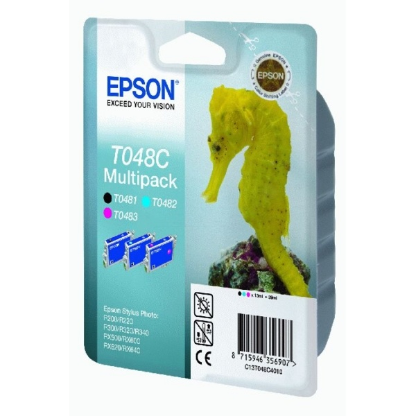 Epson T048C cyan magenta black 13 ml