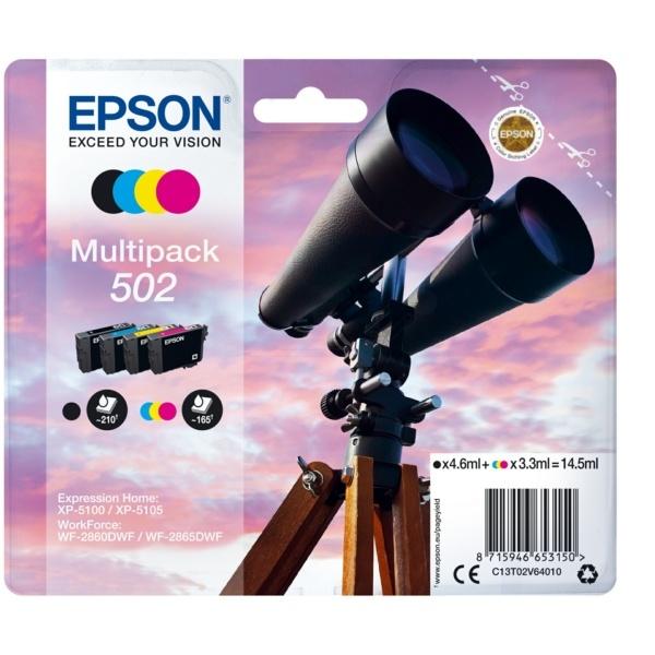 Epson 502 black cyan magenta yellow