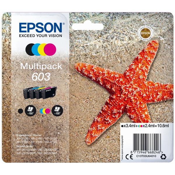 Epson 603 black cyan magenta yellow