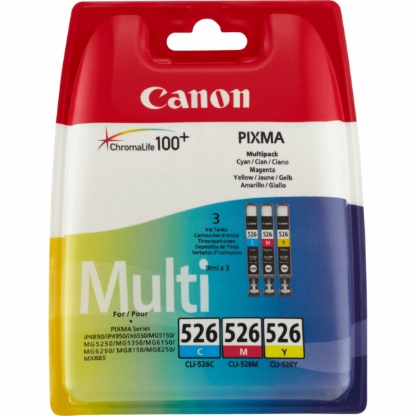 Canon 526 cyan magenta yellow 9 ml