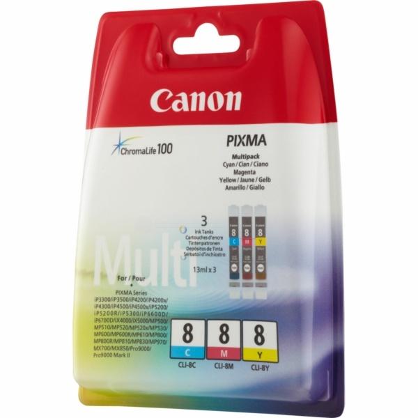 Canon CLI-8 cyan magenta yellow