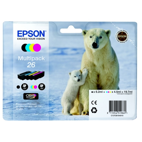 Epson 26 black cyan magenta yellow