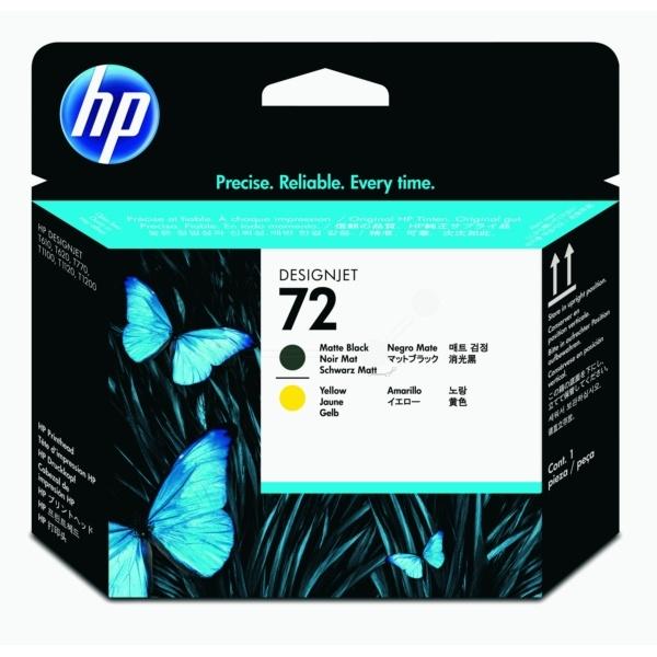 HP 72 blackmatte yellow