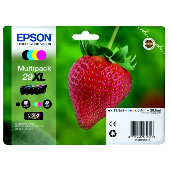 Epson 29XL black cyan magenta yellow