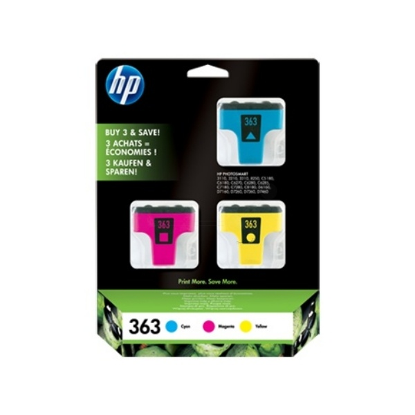 HP 363 cyan magenta yellow 13,5 ml