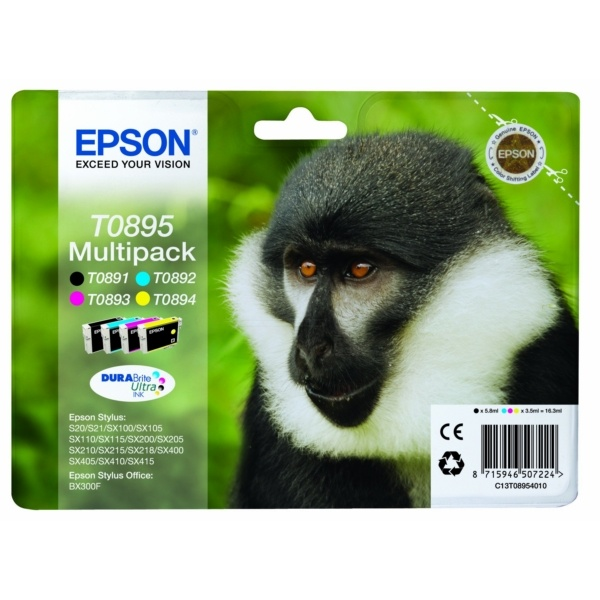 Epson T0895 black cyan magenta yellow