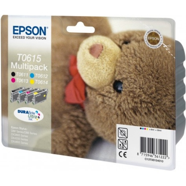 Epson T0615 black cyan magenta yellow