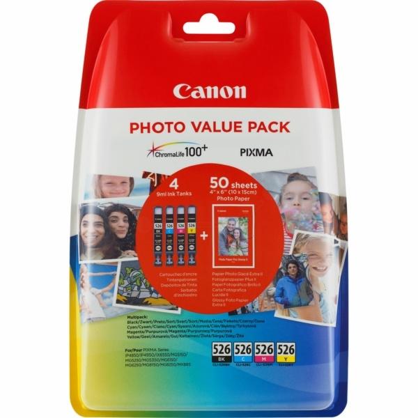 Canon 526 black cyan magenta yellow 9 ml