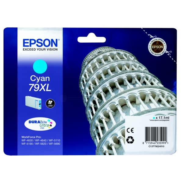 Original Epson T790240 XL Cyan