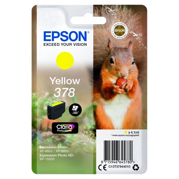 Epson 378 yellow 4,1 ml
