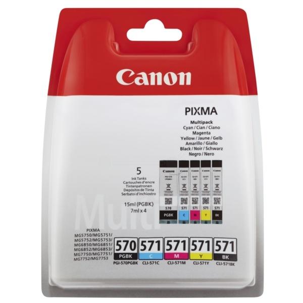 Canon 570 571 black black cyan magenta yellow
