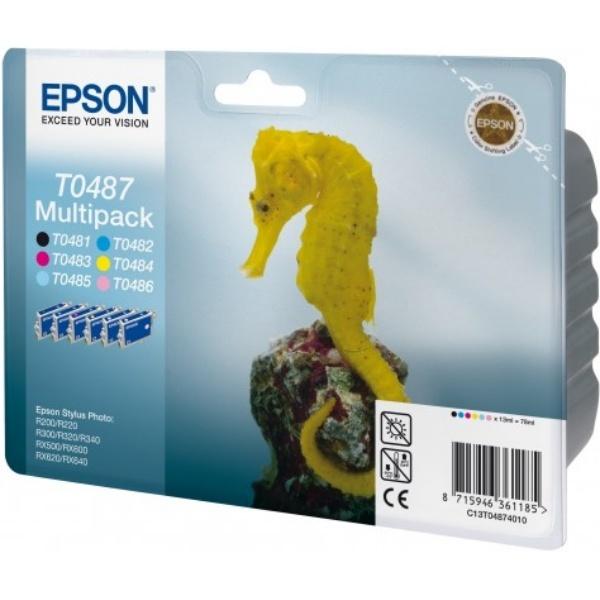 Epson T0487 black cyan magenta yellow photoc