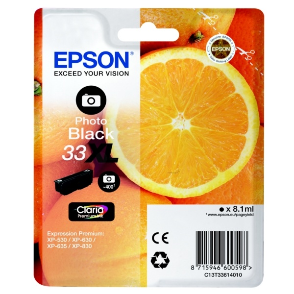 Epson 33XL photoblack 8,1 ml