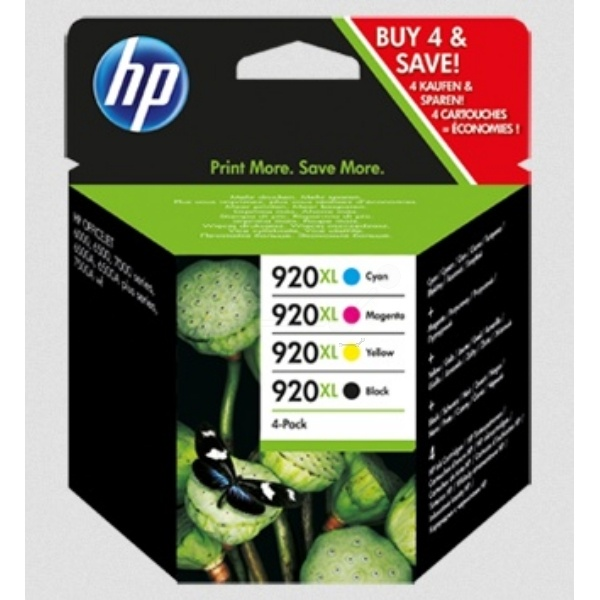 HP 920XL black cyan magenta yellow