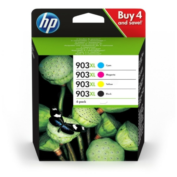 HP 903XL black cyan magenta yellow