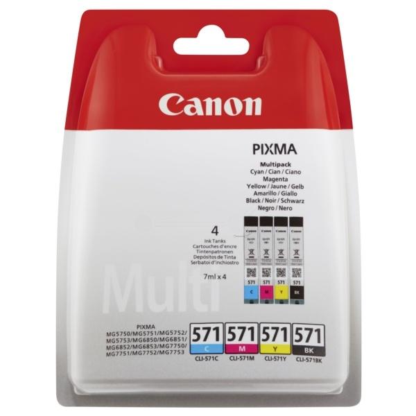 Canon 571 black cyan magenta yellow 7 ml